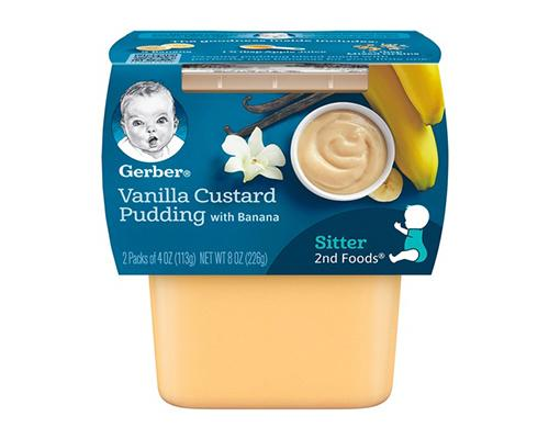 Gerber Vanilla Custard Pudding - 2pk