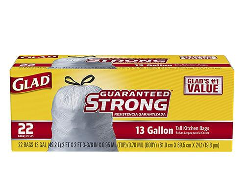 Glad Garbage Tall Kitchen Bags 13 Gal - 22 ct