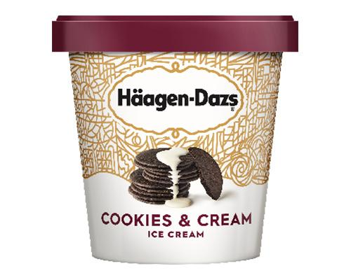 Haagen Dazs Ice Cream Cookies & Cream