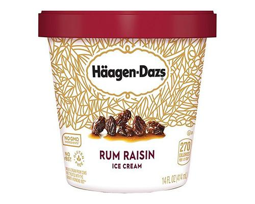 Haagen Dazs Ice Cream Rum & Raisins