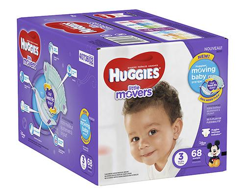 Huggies Little Movers Stage 3 (16-28 lbs) - 68 ct