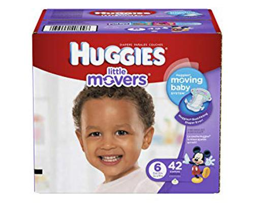 Huggies Little Movers Stage 6 (Over 35 lbs) - 42 ct
