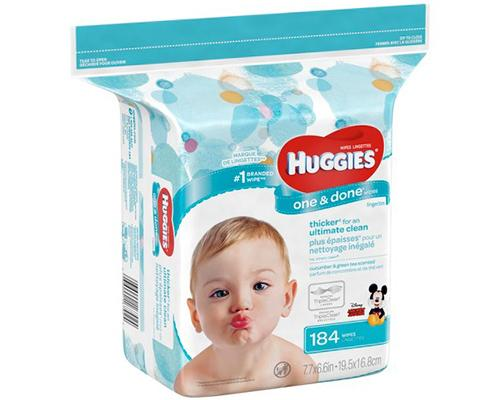 Huggies One & Done Wipes Cucumber & Green Tea Scent - 184 ct
