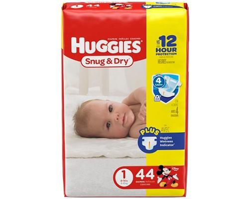 Huggies Snug & Dry Stage 1 - 44 ct