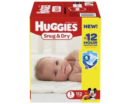 Huggies Snug & Dry Stage 1 (8-14 lbs) - 112 ct