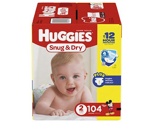 Huggies Snug & Dry Stage 2 (12-18 lbs) - 104 ct