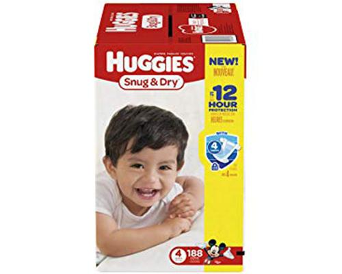 Huggies Snug & Dry Stage 4 - 188 ct