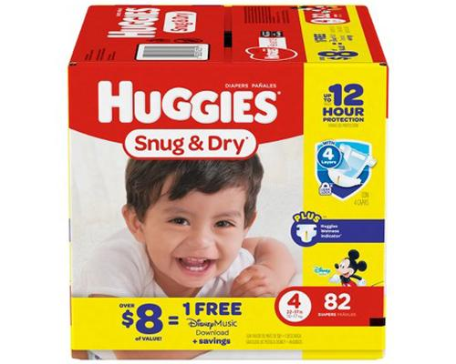 Huggies Snug & Dry Stage 4 (22-37 lbs) - 82 ct