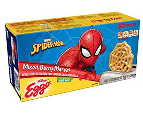 Eggo Mixed Berry Marvel Spiderman - 10 ct