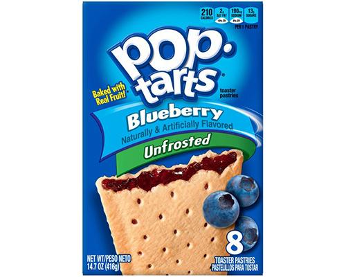 Kellogg's Pop Tarts Blueberry Unfrosted - 8 ct