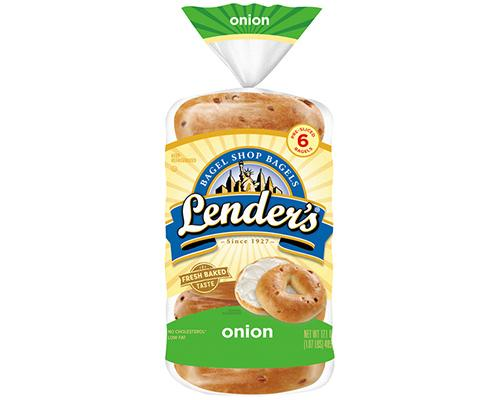 Lender's Bagel Onion - 6 ct
