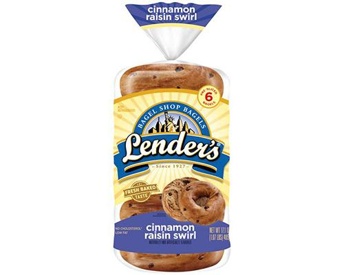 Lender's Bagels Cinnamon Raisin Swirl - 6 ct