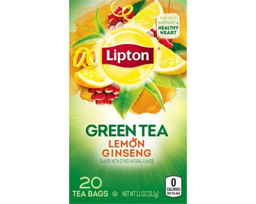 Lipton Green Tea Lemon Ginseng - 20 ct