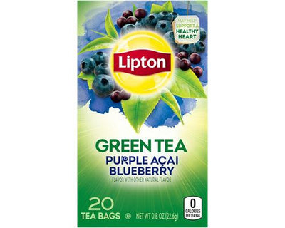 Lipton Green Tea Purple Acai Blueberry - 20 ct