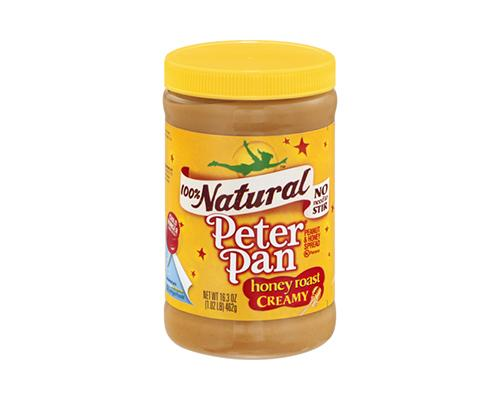 Natural Peter Pan Peanut Butter Honey Roasted Creamy