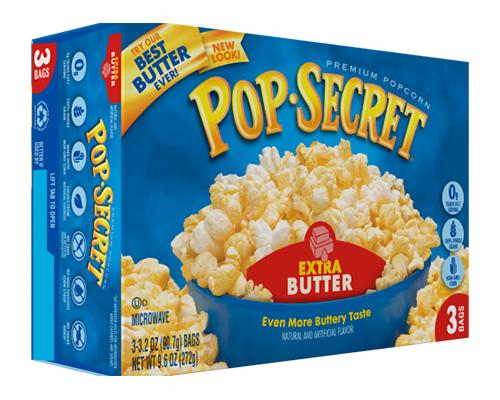 Pop Secret Popcorn Extra Butter - 3pk