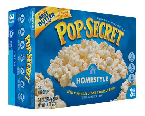 Pop Secret Popcorn Homestyle - 3pk