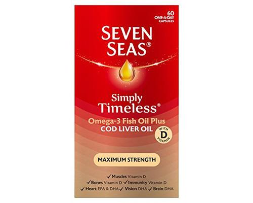 Seven Seas Cod Liver Oil Plus Omega 3 Fish Oil - 60 ct