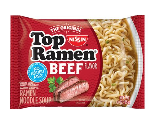 Top Ramen Noodles Beef