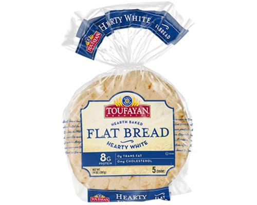 Toufayan Flat Bread Hearty White - 5 ct