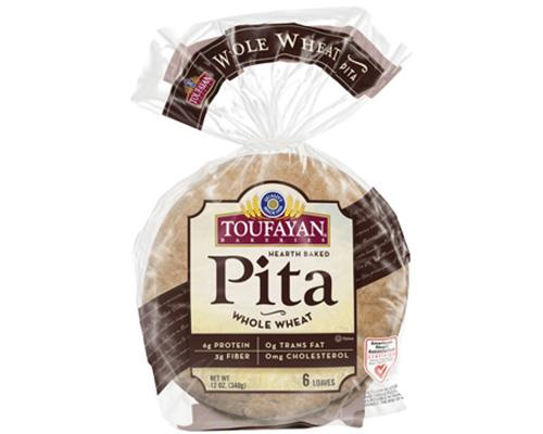 Toufayan Flat Bread Whole Wheat - 6 ct