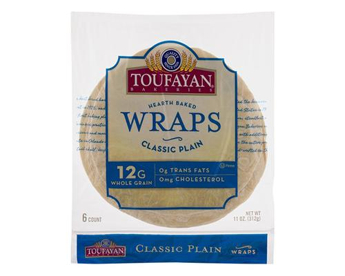 Toufayan Hearth Baked Wraps Classic Plain - 6 ct