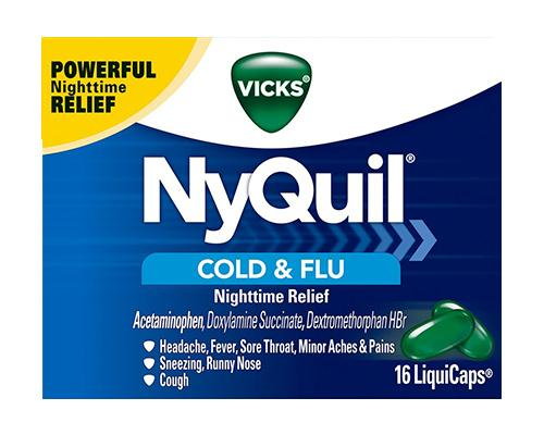 Vicks NyQuil Cold & Flu 16 LiquiCaps