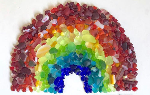 Rainbow Sea Glass Greeting Card