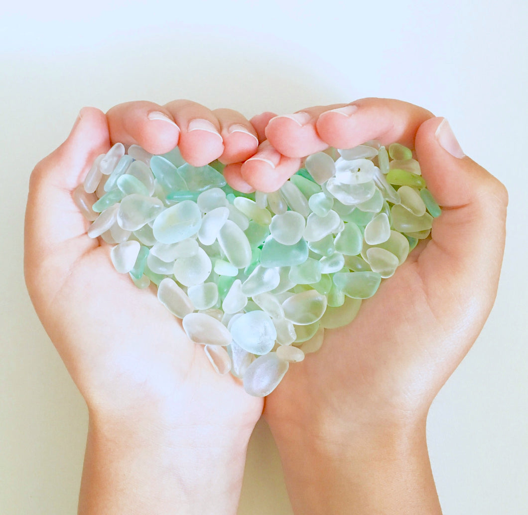 Holding Sea Glass Love Greeting Card