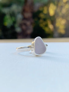 Small Lavender Sea Glass Ring