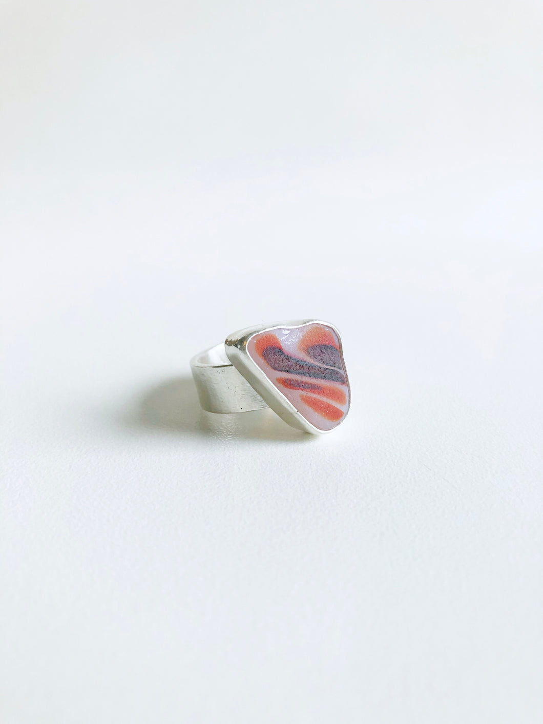 Ragged-finned Lionfish Sea Glass Ring