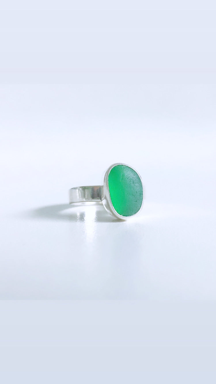 Wintergreen Sea Glass Ring
