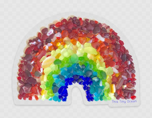 Transparent Rainbow Sea Glass Sticker