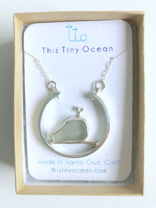 Monterey Bay National Marine Sanctuary Whale Sea Glass Pendant Necklace