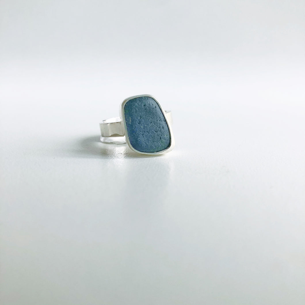 UV Cobalt Sea Glass Ring