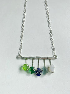 Monterey Bay Marine Sanctuary Sea Glass Pendant Necklace