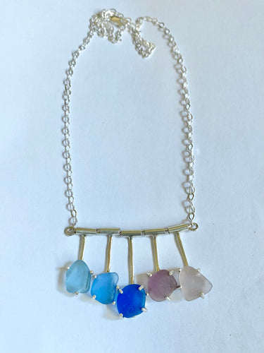 Santa Cruz Twilight Sea Glass Pendant Necklace