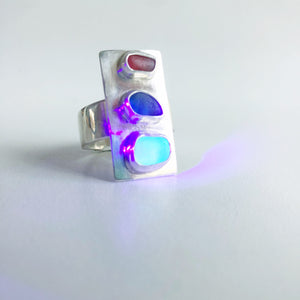 Trifecta UV Sea Glass Ring