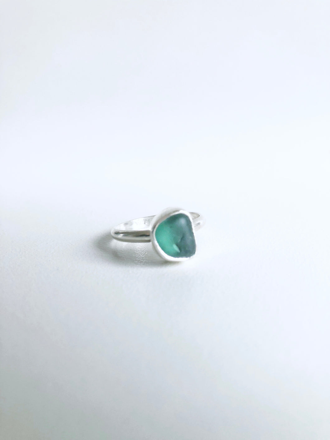 Emerald Kelp Forest Sea Glass Ring