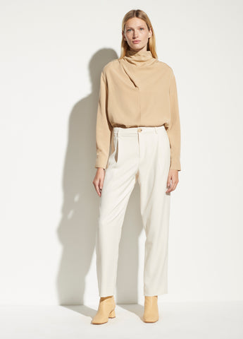 High Waist Tapered Pant in Alabaster