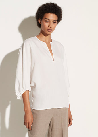 Poet Sleeve Blouse in Off White