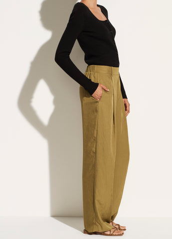 Wide Leg Pull On Pant in Botanica