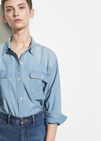 Chambray Shirt in Light Vintage Wash