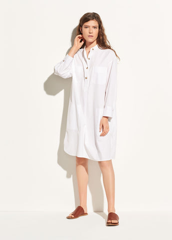 Utility Cotton Tunic in Optic White