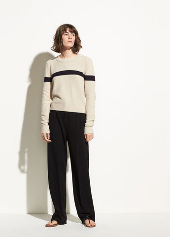Single Stripe Cotton Pullover in Chalet/Coastal