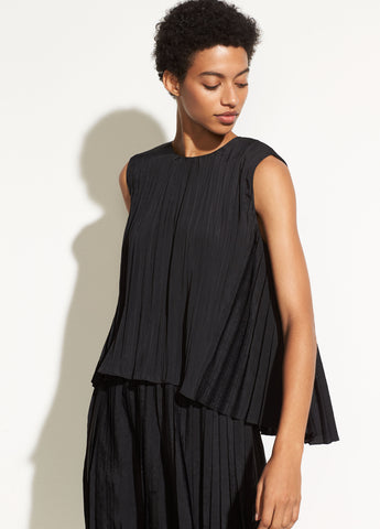 Pleated Shell in Black
