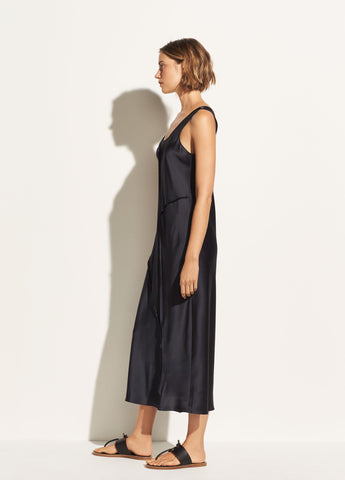Raw Edge Tank Dress in Iron