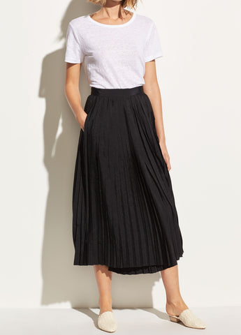 Pleated Culotte in Black