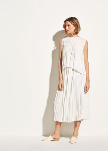 Pleated Culotte in Off White