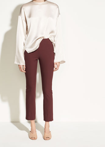 Stitch Front Seam Legging in Black Cherry